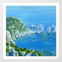 Island Paradise: Isle of Capri painting Art Print