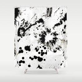 MONOCHROME SPLATTER Shower Curtain