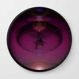 Cosmic Plumb. Wall Clock