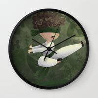 ninja Wall Clocks featuring Ninja by Miuska