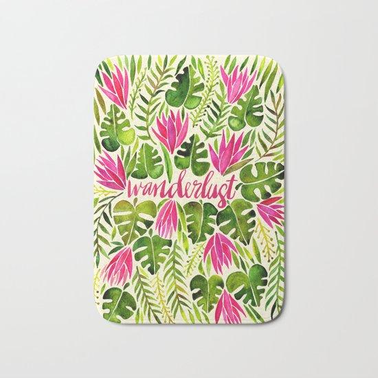 Tropical Wanderlust – Pink & Lime Bath Mat
