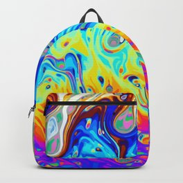 Oil on puddle Backpack