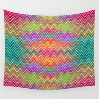 hippy Wall Tapestries featuring Hippy 2 by HK Chik