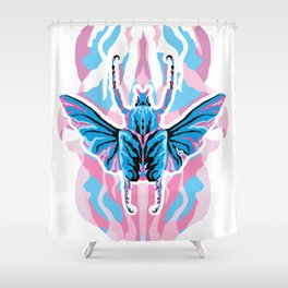 Goliathus Beetle _ psychedelic bug 1.0 Shower Curtain