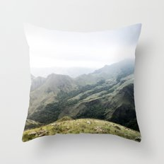 Being There Mountain Landscape Throw Pillow