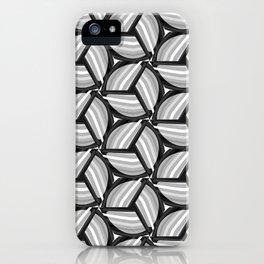 Black, White and Gray Pinwheel iPhone Case