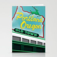 portland Stationery Cards featuring Portland by Casey Baggz