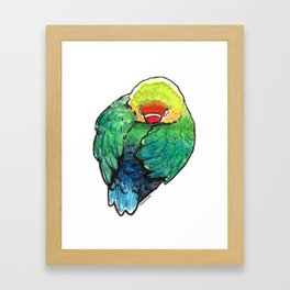 Bird no. 450: Self Care Framed Art Print