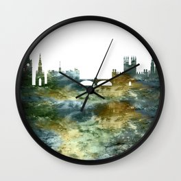 Edinburgh Skyline Scotland Wall Clock