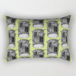 Mysterious Forest Creatures In Tree Log Rectangular Pillow