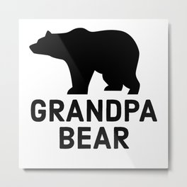 Grandpa Bear Metal Print