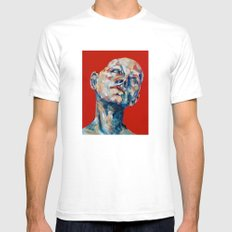Red Hair Mens Fitted Tee White SMALL