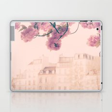 Paris cherry blossoms and facades bokeh Laptop & iPad Skin