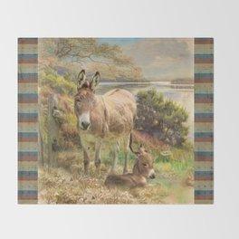 Donkey Love Throw Blanket