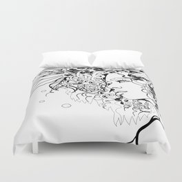 With Flowers in Her Hair No. 5 Duvet Cover