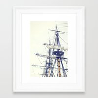 pirate ship Framed Art Prints featuring Pirate Ship  by Bree Madden