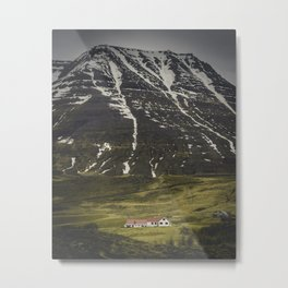 Sleepy Town of One Metal Print