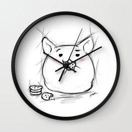 cookie eating Kawaii Wall Clock