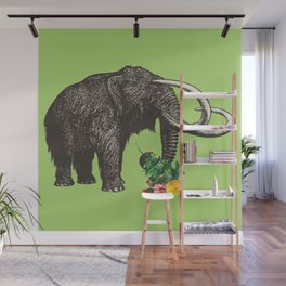 A Mammoth in Love - Lime Wall Mural