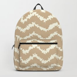 Ragged Chevron - Taupe/Cream Backpack