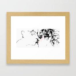 The Kiss (070413b) Framed Art Print