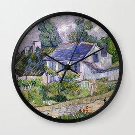 Vincent Van Gogh Houses At Auvers Wall Clock