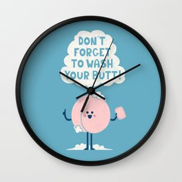 Wash Your Butt Wall Clock