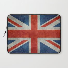 "UK British Union Jack flag ""Bright"" retro Laptop Sleeve"