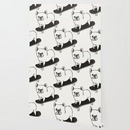 Skateboarding French Bulldog Wallpaper