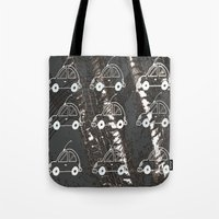 cars Tote Bags featuring Cars by Art & Fantasy by LoRo