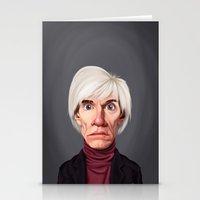 celebrity Stationery Cards featuring Celebrity Sunday ~ Andy Warhola by rob art   illustration