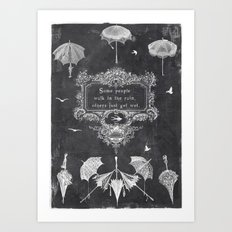 wet rain Art Print