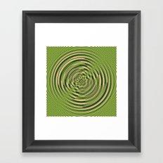 Warped Rings Framed Art Print