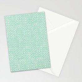 Hand Knit Mint Stationery Cards