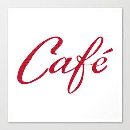 Coffee - Café - Cafe - vintage typography Canvas Print