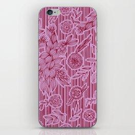 Calliope Floral Stripes iPhone Skin