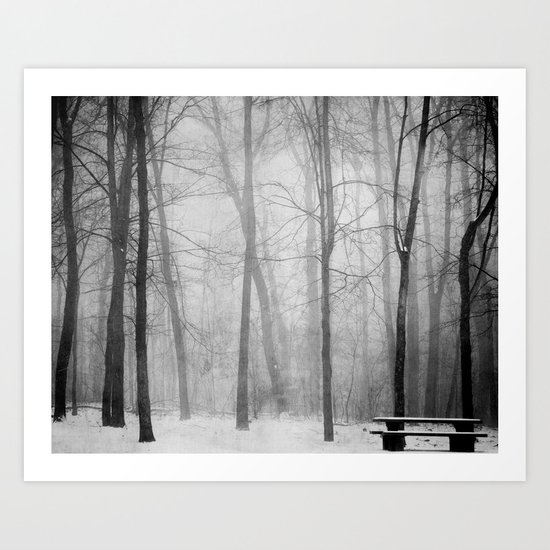 Empty Bench Art Print