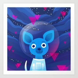 Space Pup Art Print