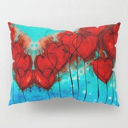 Hearts On Fire Patterns - Romantic Art By Sharon Cummings Pillow Sham
