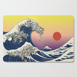 The Great Wave Of  Cat Cutting Board