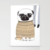 pug Stationery Cards featuring Pug  by Phillippa Lola