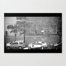 Rainy NYC Sidewalk Canvas Print