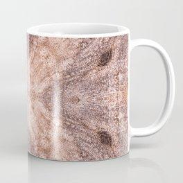 Petrified Wood with a geometric kaleidoscopic design Coffee Mug