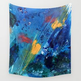 Views of Rainbow Coral, Tiny World Collection Wall Tapestry