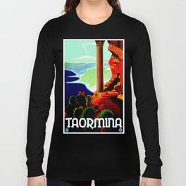 Vintage Taormina Italy Travel Long Sleeve T-shirt