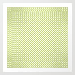 Daiquiri Green and White Polka Dots Art Print