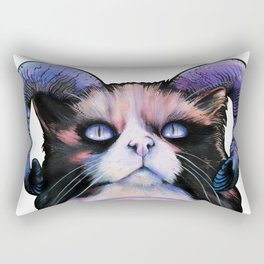 Occult Cat Lovers Ritual Rectangular Pillow