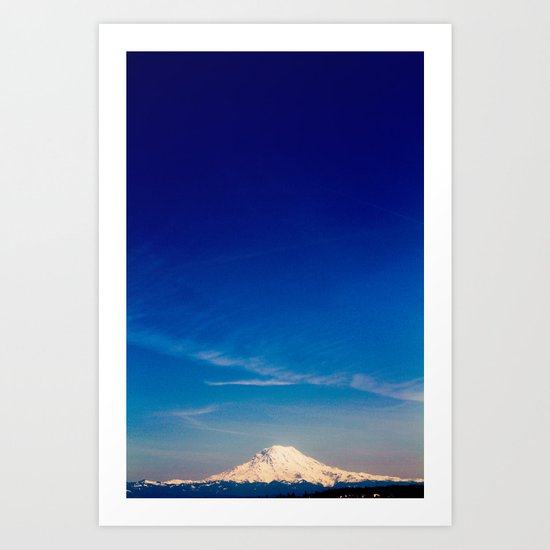 Mt. Rainier . ii Art Print