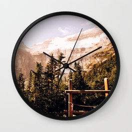 Up in the Mountains Wall Clock