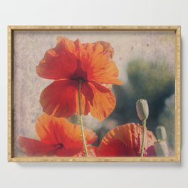 Red Poppies, Flowers Serving Tray